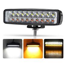 48W 60W Vehicel Headlights 20LEDs Amber Light Bar 6inch Vehicle Work LED Truck For SUV