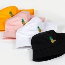 Ананас контактный вышивка Панама для мужчин и женщин в стиле хип-хоп рыбак шляпу взрослый Панама Боб любителей шляпа летом плоские шляпы
