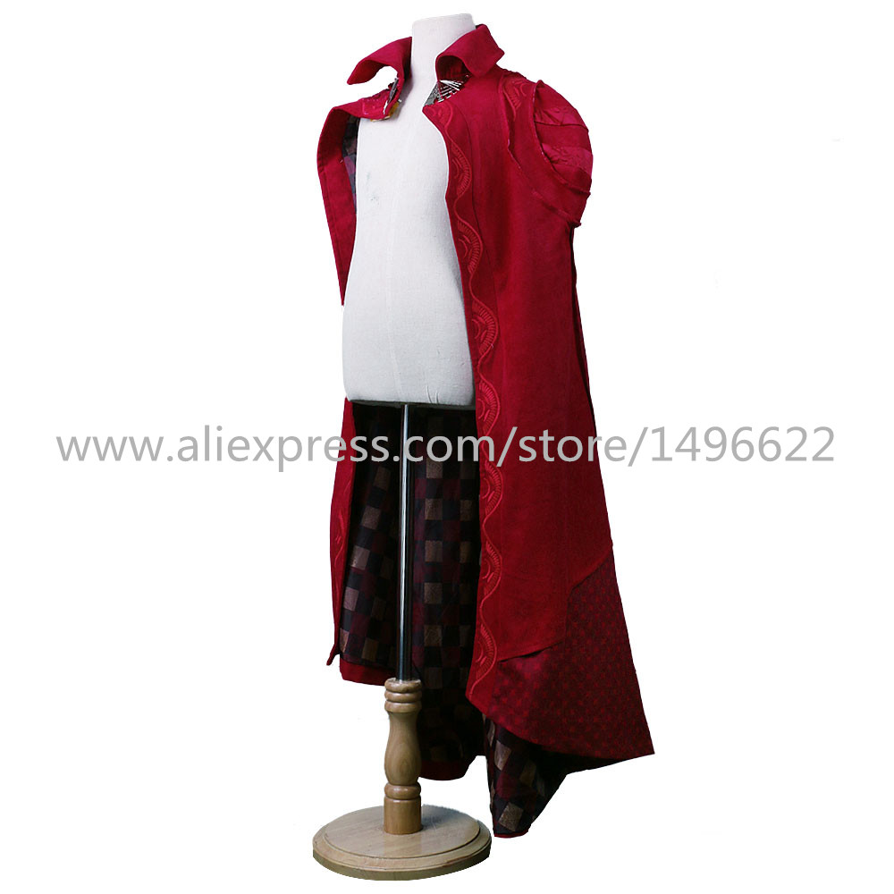 Cos Marvel Movie Doctor Strange Costume Cosplay Steve Red Cloak Kids Costume Robe Halloween Costume Party (3)
