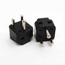 5PCS 1 to 2 South Africa ZA India IN Plug Adapter Universal Converter Travel Power Plug 3 pins round AC adaptor PLUG TYPE D UK все цены