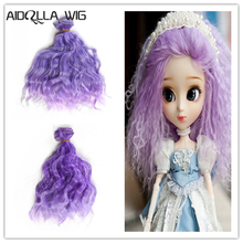 Dropshipping Promotion 15*100cm DIY Mini Tresses Doll Wig High-Temperature Material Straight Hair For BJD Accessories