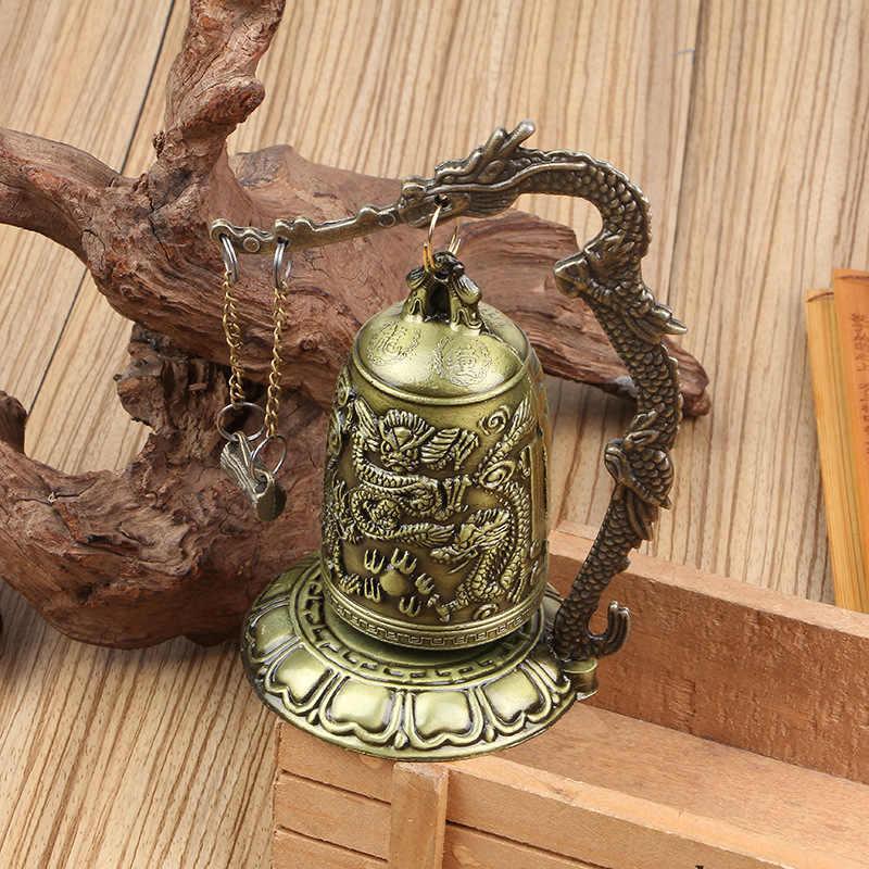 Классическая Статуя бронзовый замок Монк Дракон ударный колокол может кольцо Дракон маятник кусок геомантические украшения ручной работы в 2019 году