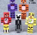 5 pçs/set Cinco Noites Em Freddy Minifigures Blocos de Construção Com Armas 13 cm Fox Urso Bonnie PVC Anime Figura para Crianças brinquedos Shopkin