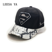 Superman Caps Hot Winter Cotton Brand Adjustable Baseball Cap Letters Snapback Cap Snapback Bone Sport Men
