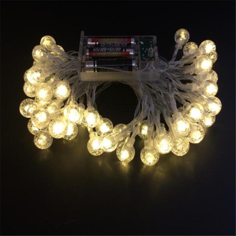5 Couleurs 7.5M 50 LED String Light Batterie AA Imperméable Boules - Éclairage festif - Photo 6