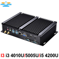 Embeded fanless industrial mini pc terminal com processador intel i34010u 2 com 4 usb3.0 mini computador