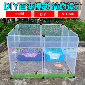 NEW Transparent pen pet dog pen pet pen DIY free combination animal cat crate cave multi-functional sleeping dog playing kennel