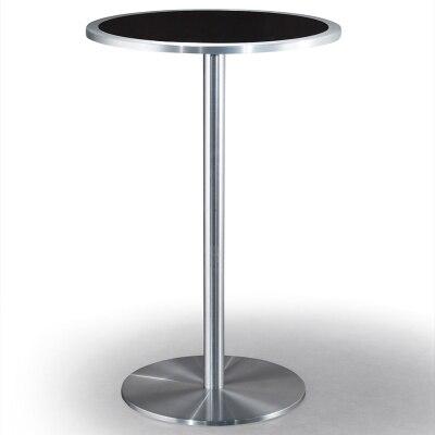 Simple moderne verre trempé restaurant créatif haute barre table balcon maison mode table ronde table de négociation