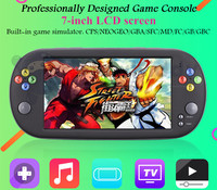 7 inch LCD screen handheld game console player 8G TV output Video playback support downloading games music e books taking photos