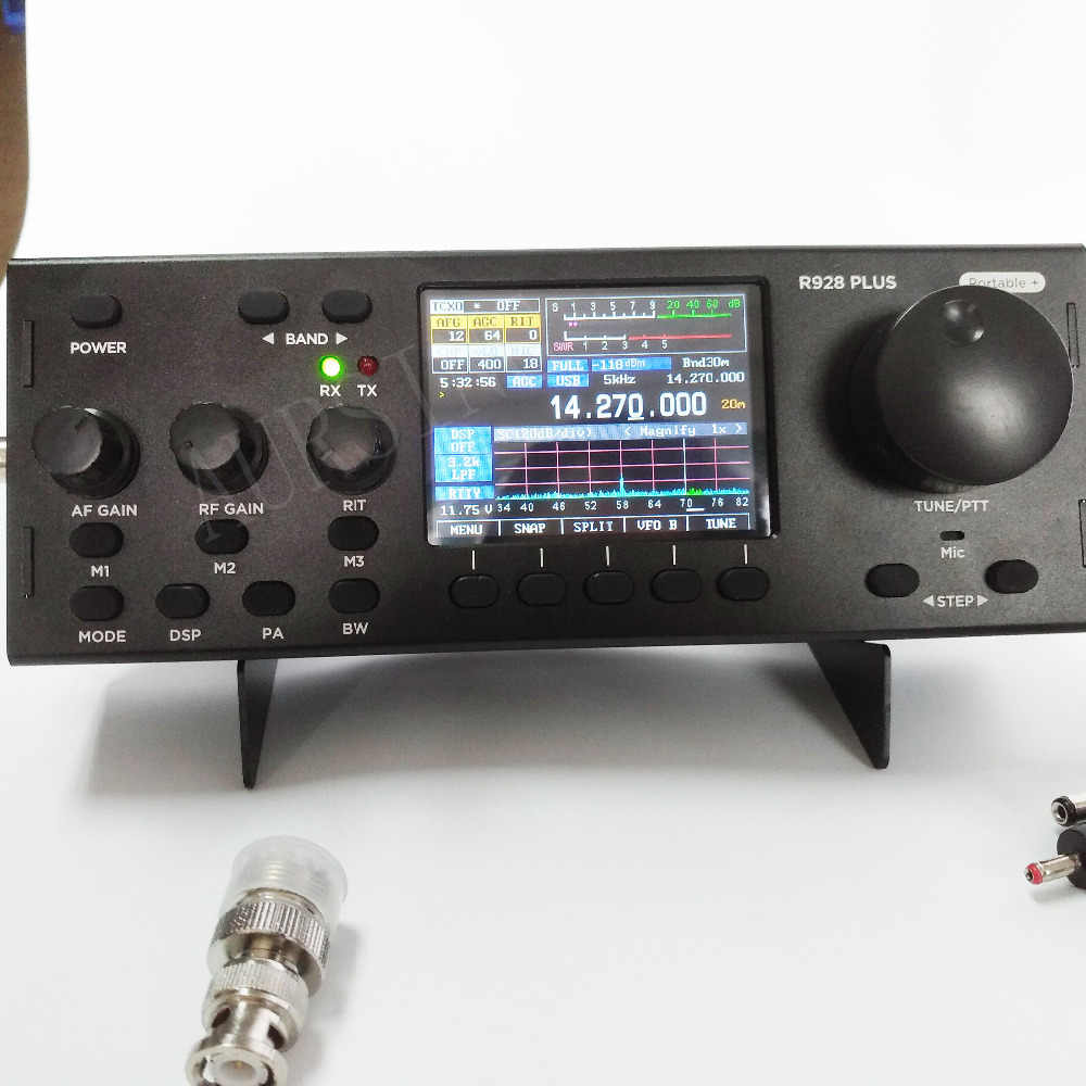 Newest R928 Plus Muiti Mode TFT QRP HF SDR Transceiver with built in