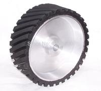 250 50 25 32mm Grooved Rubber Wheel Belt Sander Polisher Wheel Sanding Belt Set Contact Wheel