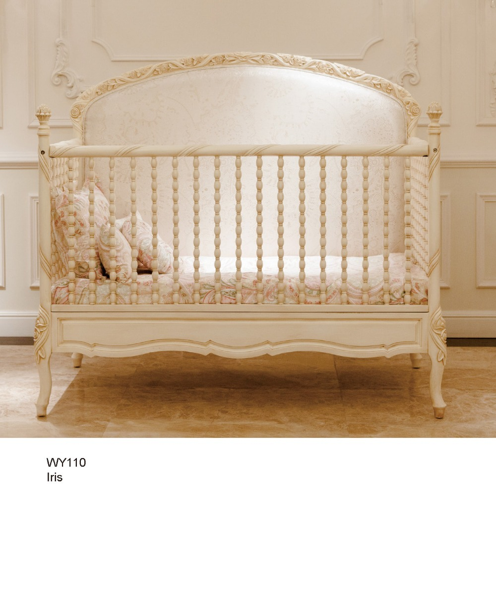 European Solid Wood 2 in 1 Crib Switchable to Kids Bed ...