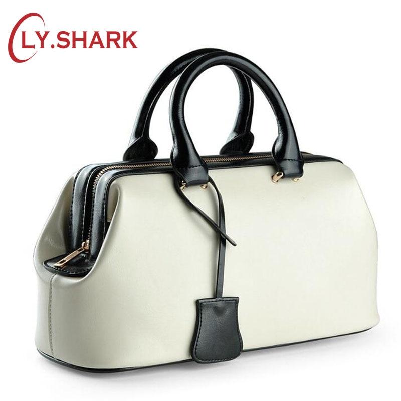 LY. SHARK bolso de mano de cuero genuino bolso de mujer 2019 bolso amarillo para mujer bolsos de lujo Bolsos De Mujer diseñador-in Cubos from Maletas y bolsas    1