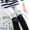 100% algodão bonito dos desenhos animados gato meninas meias respirável criança meias elásticas meias de bebê meninas impressão crianças calças