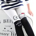 100% algodón de la historieta encantadora chicas gato pantimedias alta transpirable niño medias elástico suave del bebé niñas almacenamiento imprimir niños medias