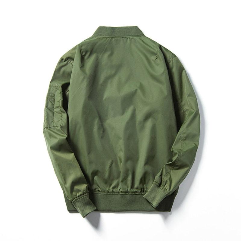 95dd4a01e Men Women Flight Bomber Army Flying Coat Baseball Casual Jacket ...