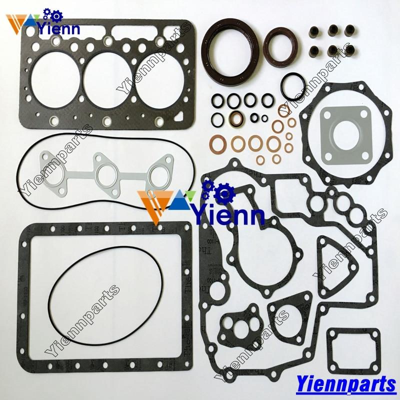 US $178 0 |Kubota 3D67 D782 Upper Gasket kit 1G008 99350 and Lower Gasket  kit 1G027 99360 For kubota B7410 Tractor D782 Diesel engine parts-in