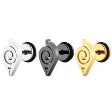 Anime Ear Jewelry Naruto stainless steel earrings Stud Earring For Women Men Fashion