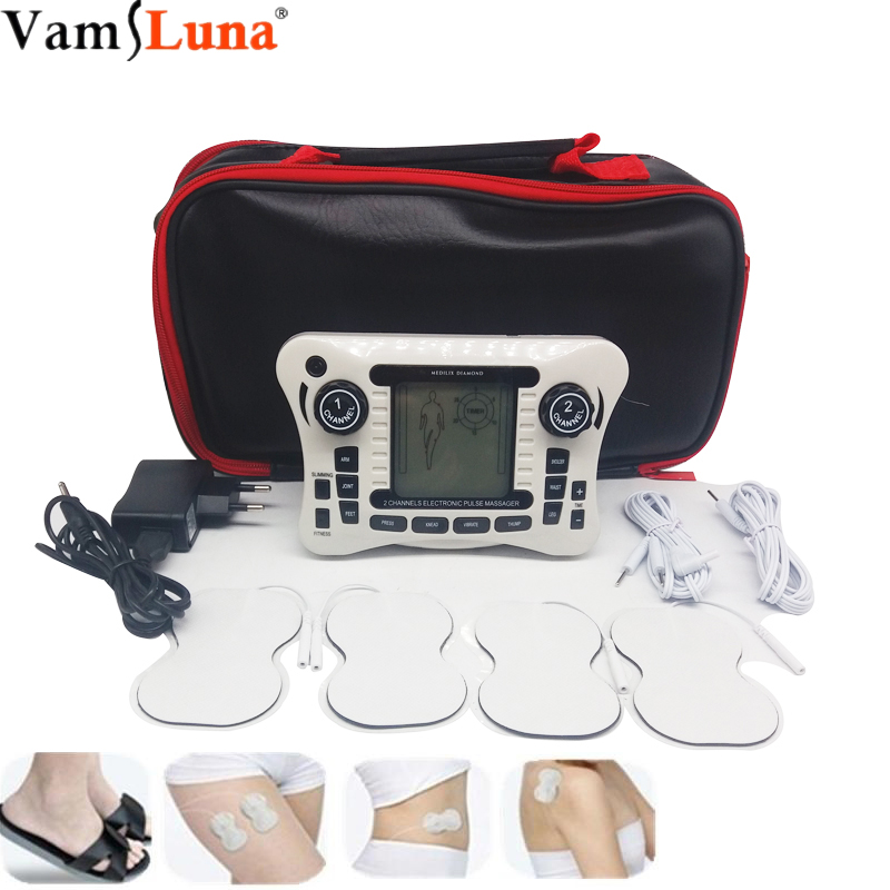 Double channel Tens Electronic Silicone shoes Pulse Massager Digital Full Body Physiotherapy Instrument Meridian Acupuncture