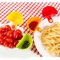 Nova Venda!!! 4 Assorted Pçs/set Salada Molho Ketchup Jam Dip Clipe Copo Pires Tigela de Cozinha Utensílios de mesa