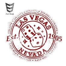 EARLFAMILY-pegatinas para coche, sello adhesivo para ventana de coche, camión, parachoques, decoración de pared, estilo Retro, Las Vegas, Sin ciudad, 13cm X 12,1 cm