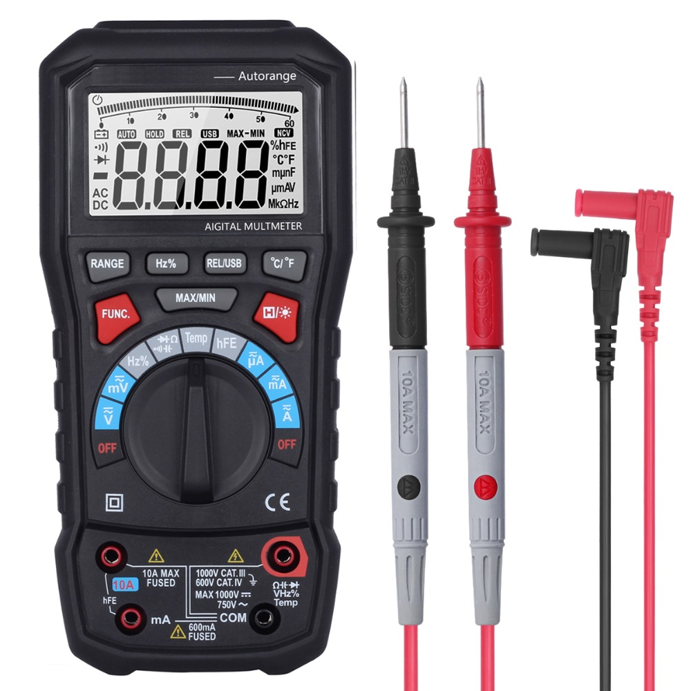 BSIDE ADM20 6000 Counts TRUE RMS Auto Range Digital Multimeter DMM USB Interface Support PC with Backlight цены