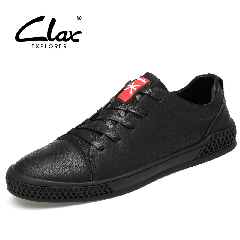 CLAX Mens Shoes Leather 2019 Spring Autumn Casual Shoe Male Fashion Walking Footwear chaussure homme Soft