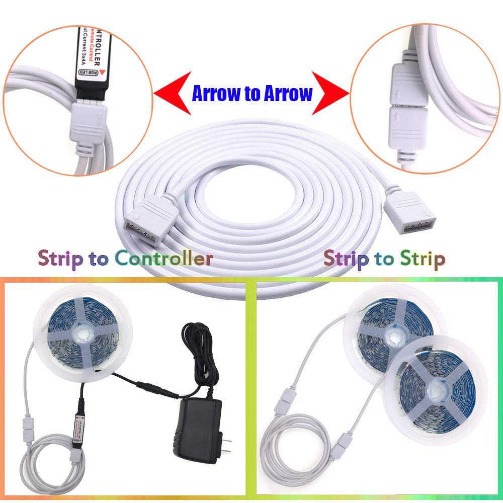 4 PIN RGB/5pin dioda led rgbw przedłużenie złącza kabel przewód drutu + igły złącza 1M 2M 5M dla 5050 3528 RGB dioda led rgbw taśmy światła