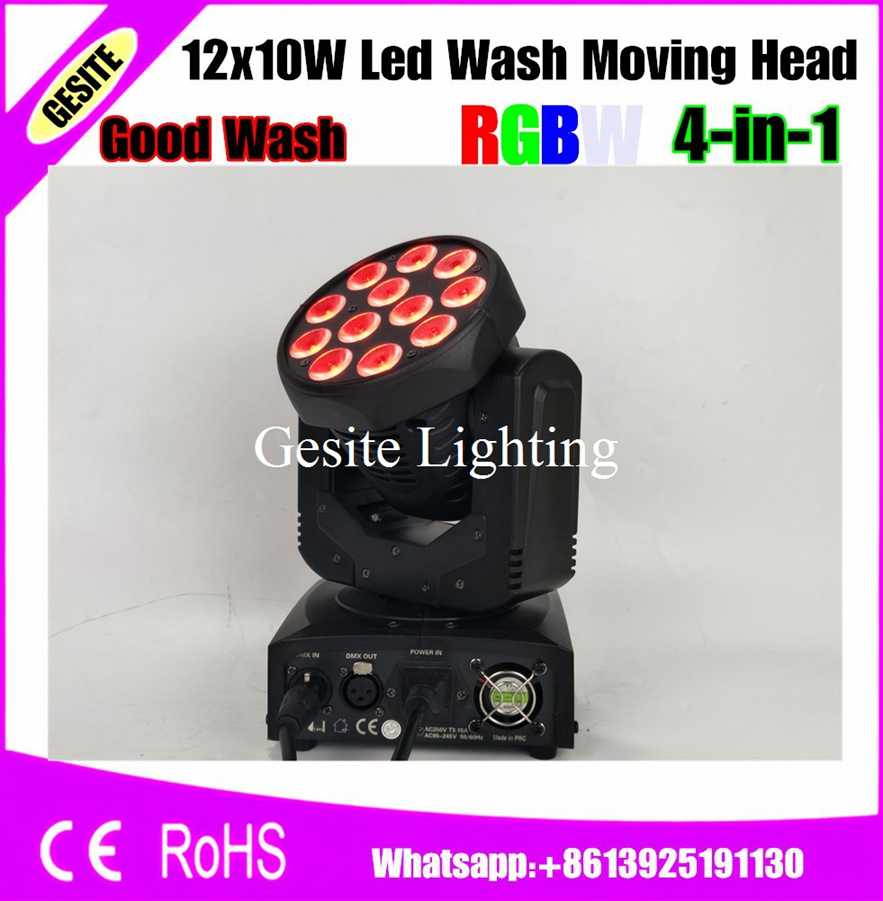 Commercial Lighting Lights & Lighting 4pcs/lot 12pcs Rgbw 12x10w Led Moving Head Fixture Home Party 10w Wash Led Light