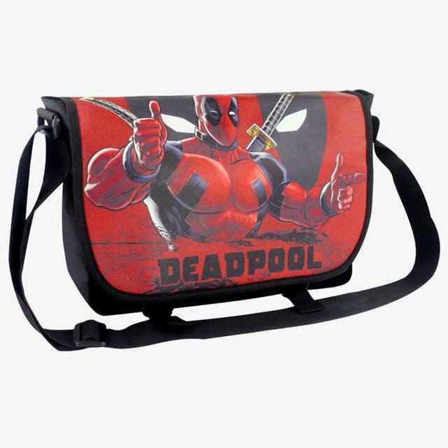 Anime Deadpool X Man Shoulder Bag Characters School Messenger Cosplay Party