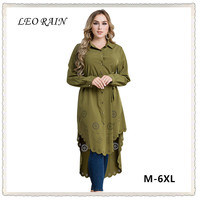 4XL 5XL 6XL Oversize Malaysia Long Sleeve Ramadan Muslim Robe Hollow Out Shirt Dress Women Plus