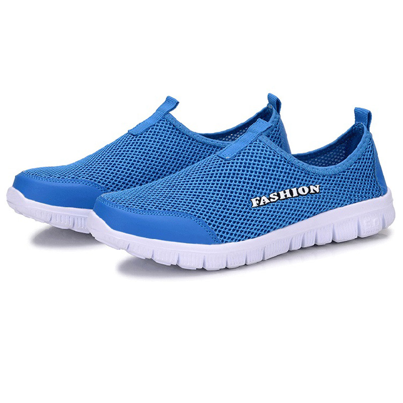 2017 fashion Woman casual mesh shoes Large size Lover Breathable men
