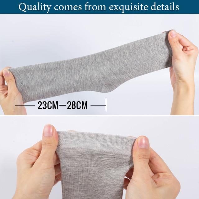 Cotton New styles 10 Pairs / Lot Black Business Men Socks US size(6.5-12) 4