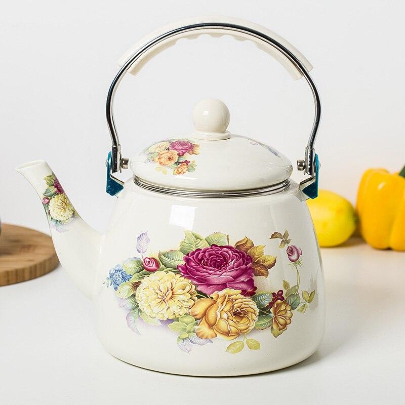 3 3L enamel kettle kettle jug Chinese medicine pot electromagnetic oven gas general with tea bag