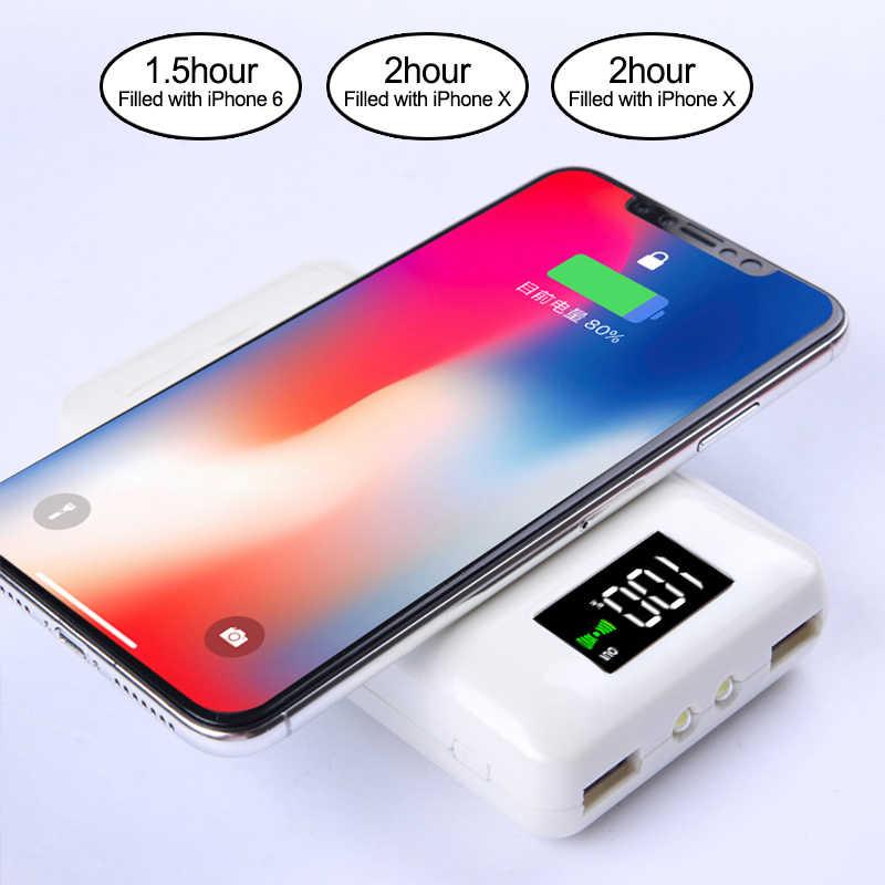 Multi-fonction 3 en 1 QI chargeur sans fil batterie d'alimentation pour iPhone X XS Max XR portable chargeur rapide pour écouteurs Bluetooth