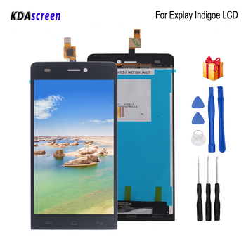 цена на For Explay indigo LCD Display Touch Screen Assembly Replacement For Explay indigo Screen LCD Display Phone Parts Free Tools