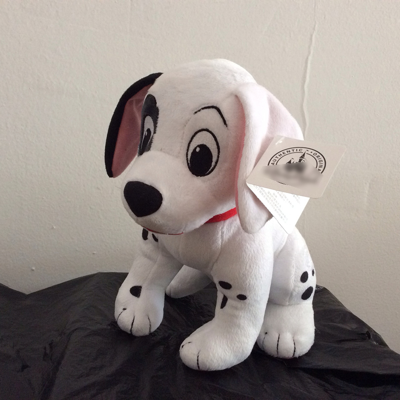 Free Shipping 28cm Cartoon 101 Dalmatians Dog Stuffed Animal Plush toy boy Soft doll for kids gift new 35 90cm large stuffed soft plush simulated animal dalmatians dog toy great kids gift free shipping