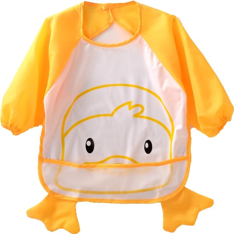 Cartoon Baby Waterproof Toddler Long Sleeve Bib Boys Girls Apron Smock Bib Burp Cloths Children Feeding Eating Smock 1-3T