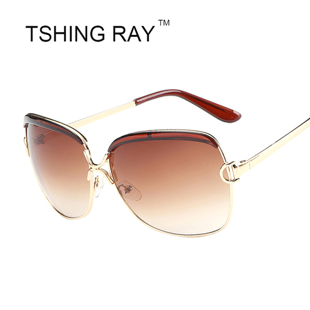 3f6f01fe4d58 US $11.5 |Luxury Brand Designer Men Women Goggle Sunglasses Fashion Metal  Frame Large Size Sun Glasses Female Eyewear Gafas de sol Top-in Women's ...