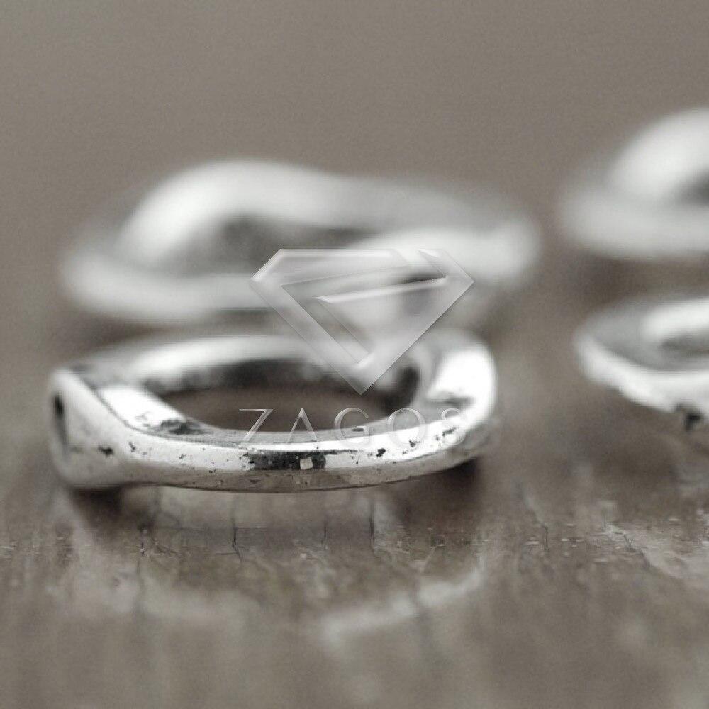 60 шт. старинное серебро тибетские Серебряный тон 15x13x3 мм кольцо из бисера кадров Цинковый Сплав Ювелирные Изготовление выводы TS3320