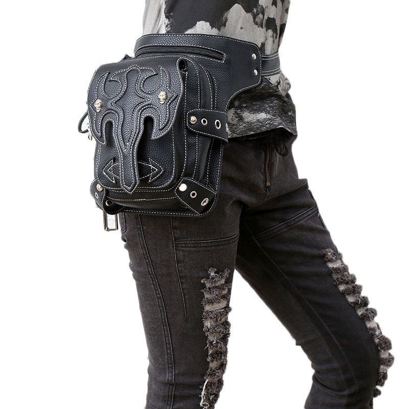 LACATTURA Gothic Steam Punk Bag Retro Rock Bag Women Waist Leg Bags Gothic Black Leather Messenger Bags 2017 New Design Purse abdul qadir riffat n malik and tahira ahmed impacts of human activities on streams of sialkot pakistan