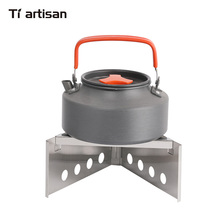 Tiartisan Kitchen Outdoor wood stove 304 stainless steel hikers camping with fire card simple portable picnic