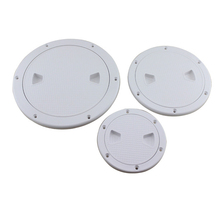 4 Inch/6 Inch/8 InchPlastic Round Marine Boat RV Hatch Cover White Screw Out Deck Inspection Plate Drop Shipping