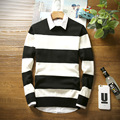 2016 NEW winter long sleeve striped men pullover sweater masculino male casual sweater knitwear