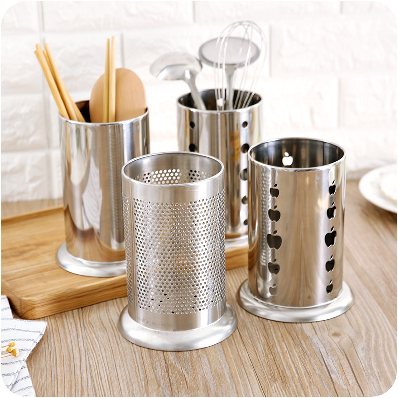 Stainless Steel Kitchen Drain Tableware Storage Racks Cutlery Chopsticks Spoon Fork Stationery Cosmetic Storage Racks Holder