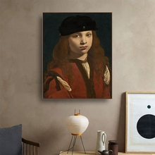 Portrait of Girl Famous Oil Painting by Da Vinci Canvas Painting Calligraphy Home Decor Wall Art Picture for Living Room Church an angel in rrd with lute by da vinci wall picture poster print canvas painting calligraphy for living room bedroom home decor