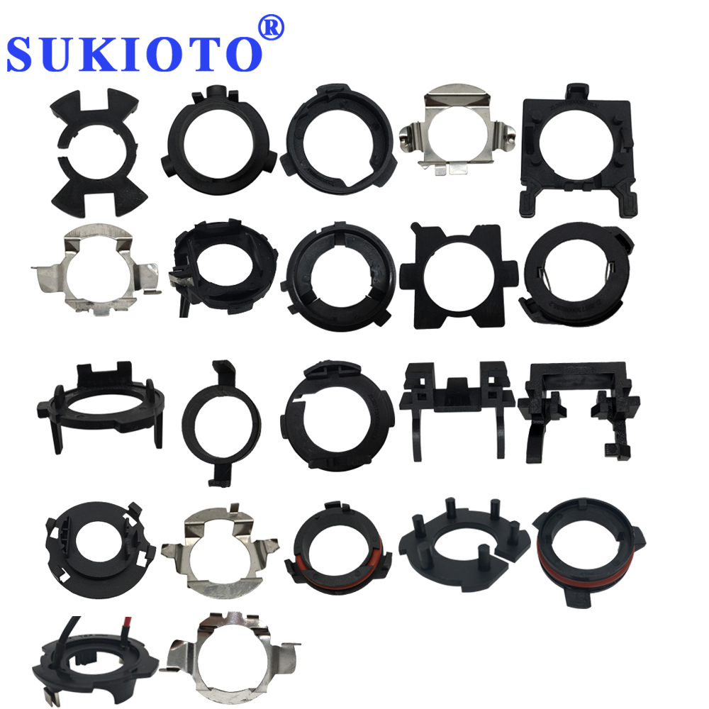 SUKIOTO 10PCS H1 <font><b>H7</b></font> <font><b>LED</b></font> <font><b>Headlights</b></font> Adapters Base Socket 12V 24V Auto <font><b>LED</b></font> adapter for <font><b>LED</b></font> Car Bulbs <font><b>H7</b></font> <font><b>led</b></font> Holder Base image