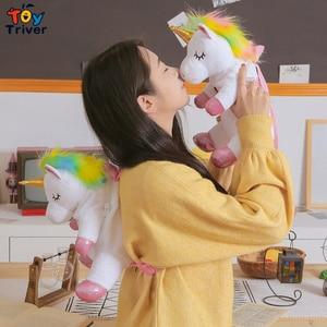 Image 3 - Cute Kawaii Unicorn Backpack School Shoulder Bag Bookbag Plush Toy Triver Baby Kids Children Girl Boy Girlfriend Student Gift