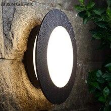 Простой круговой наружный Настенный светильник водонепроницаемый ржавчины светодиодный светильник для крыльца современный настенный светильник садовое освещение двора