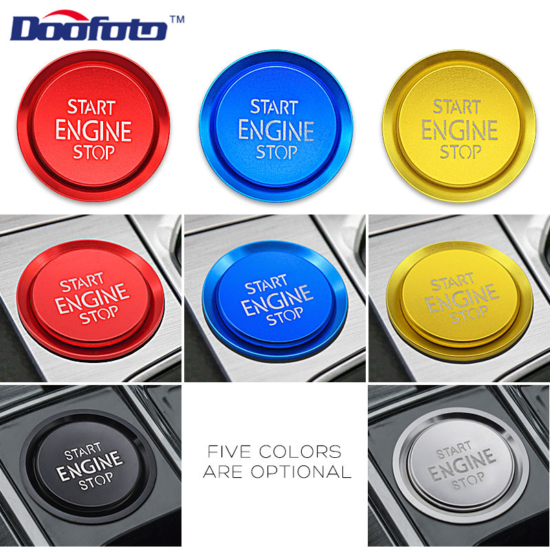 Doofoto Start Cover For Volkswagen CC Passat B8 B6 B7 Tiguan L Teramont Magotan For Audi Skoda Seat 2019 Car Styling Accessories|Keyless Start System| |  - title=